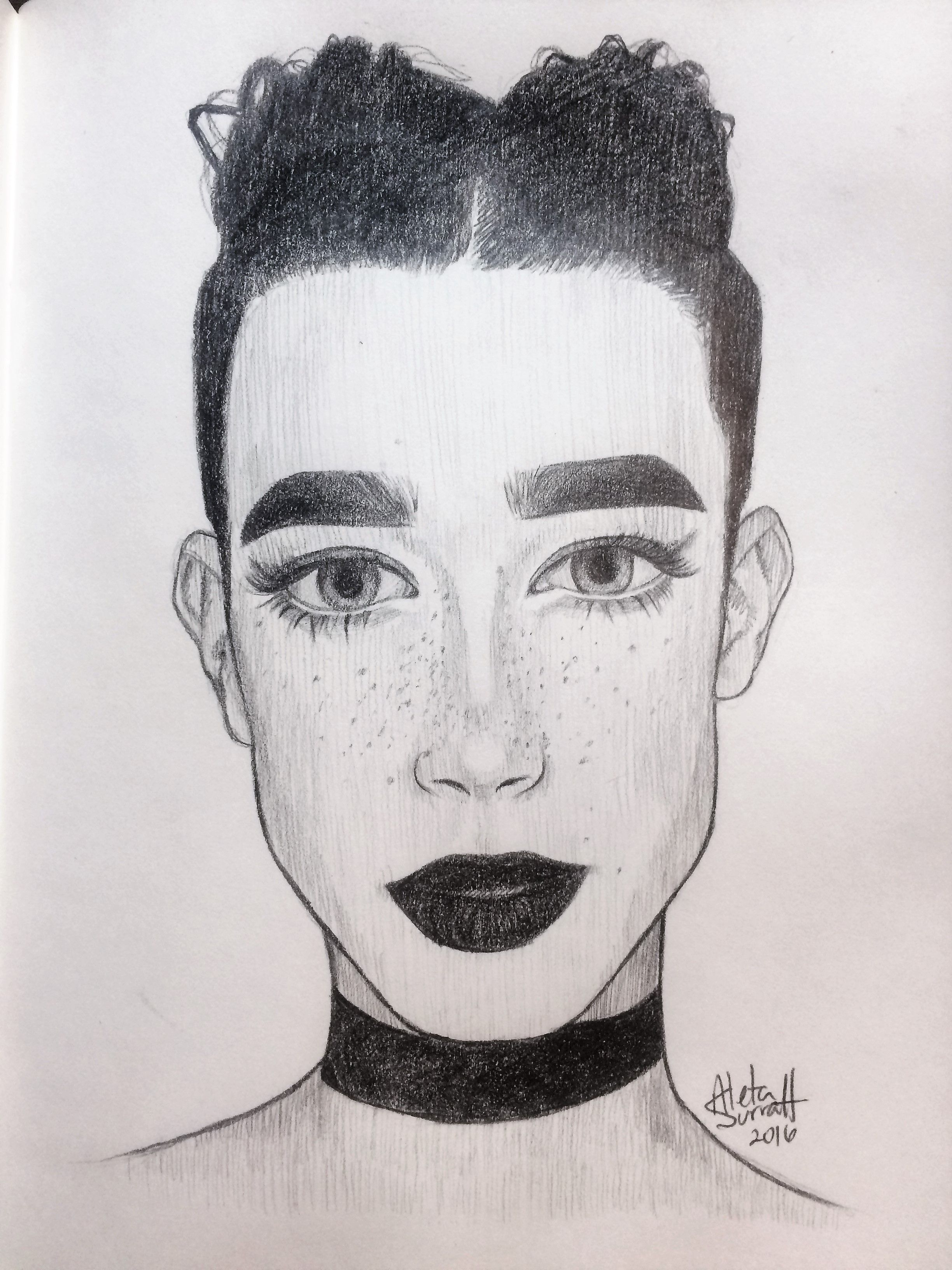 Video james charles speed drawing also odyssey pinterest drawings rh
