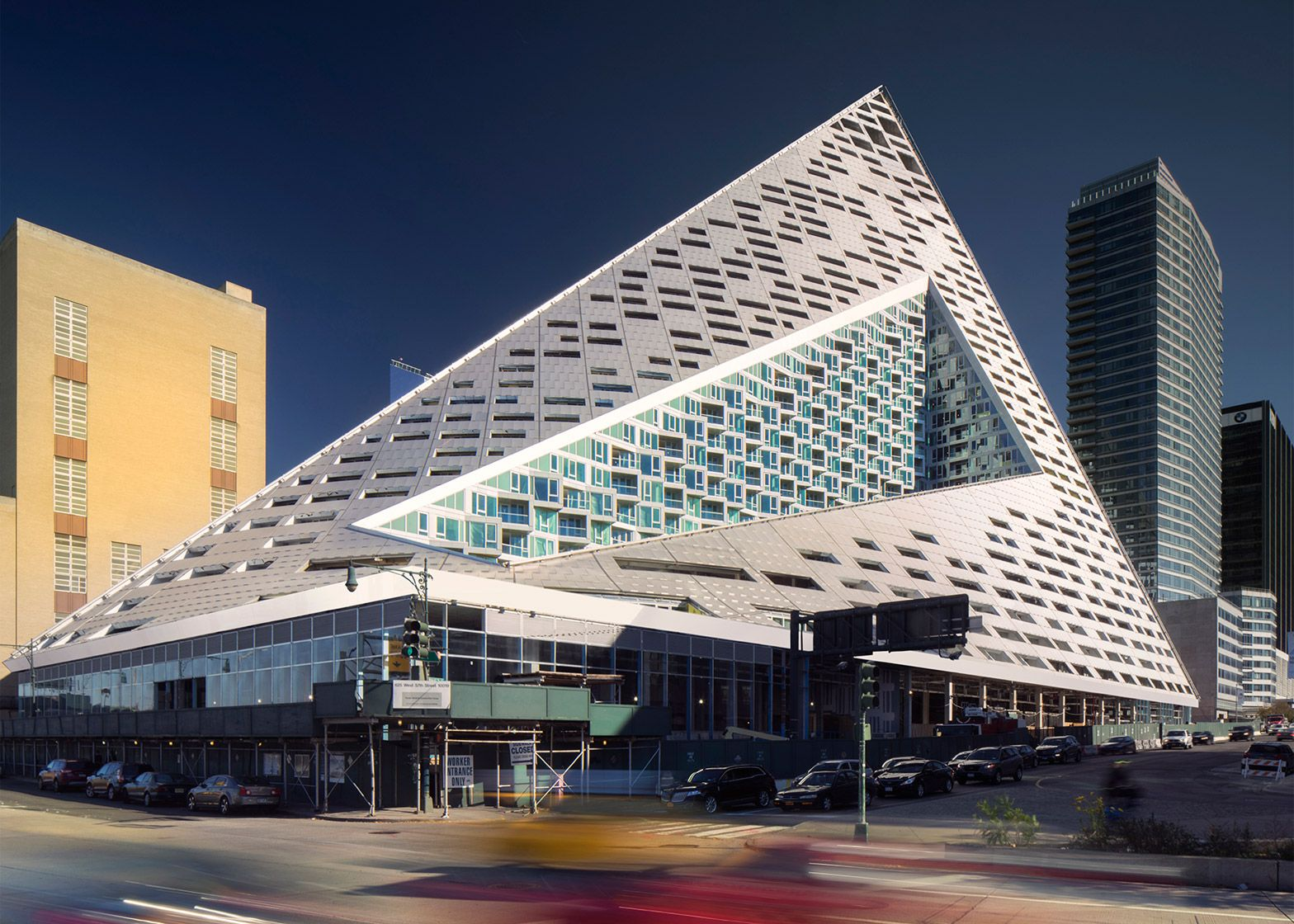 Famous New York Architects via at west 57th, new york, usa,bjarke ingels group and slce