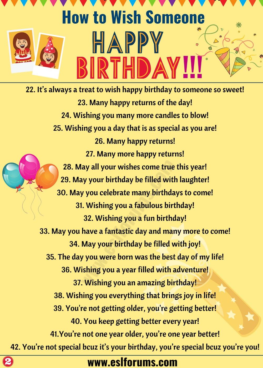 Birthday Wishes 40 Best Happy Birthday Wishes To Friends Others Esl Forums Happy Birthday Wishes Quotes Happy Birthday Fun Birthday Wishes Quotes