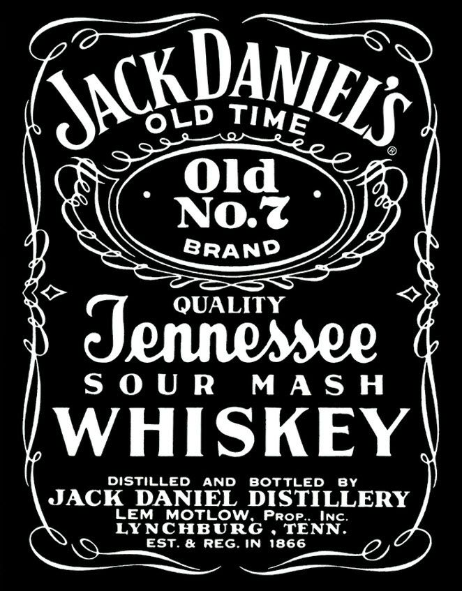 Jack daniel 39 s old no 7 vintage tin sign jack daniels for Pochoir jack daniels