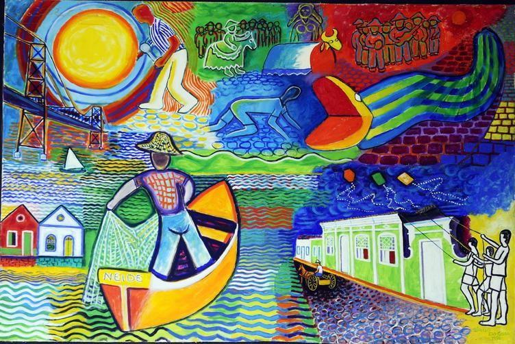 Pintor Tercio Da Gama Expoe Quadros Em Galeria De Santo
