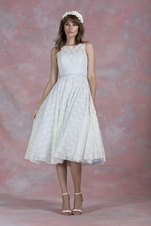 80010 / pastel tea dress Wedding dresses, Tea length