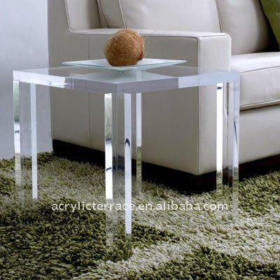 Frosted Acrylic Sofa Side Table Acrylic Furniture Acrylic Table