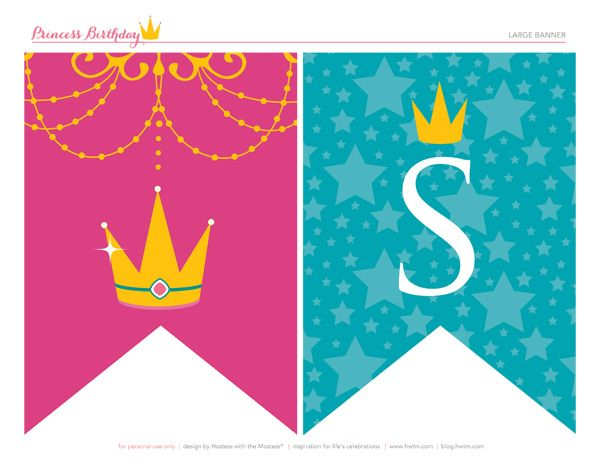 Free Printables Sparkly Disney Princess Birthday Party