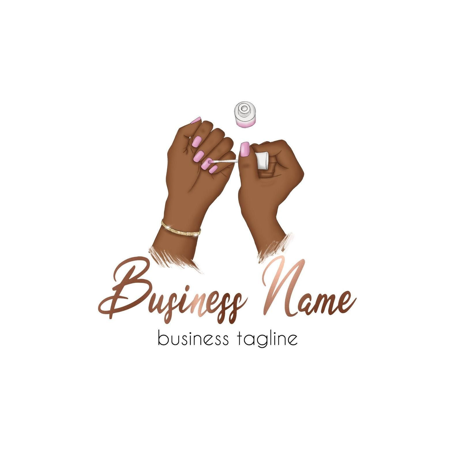 Nails Logo, Nail Salon Logo, Nail Artist Logo, Logo Design Nails