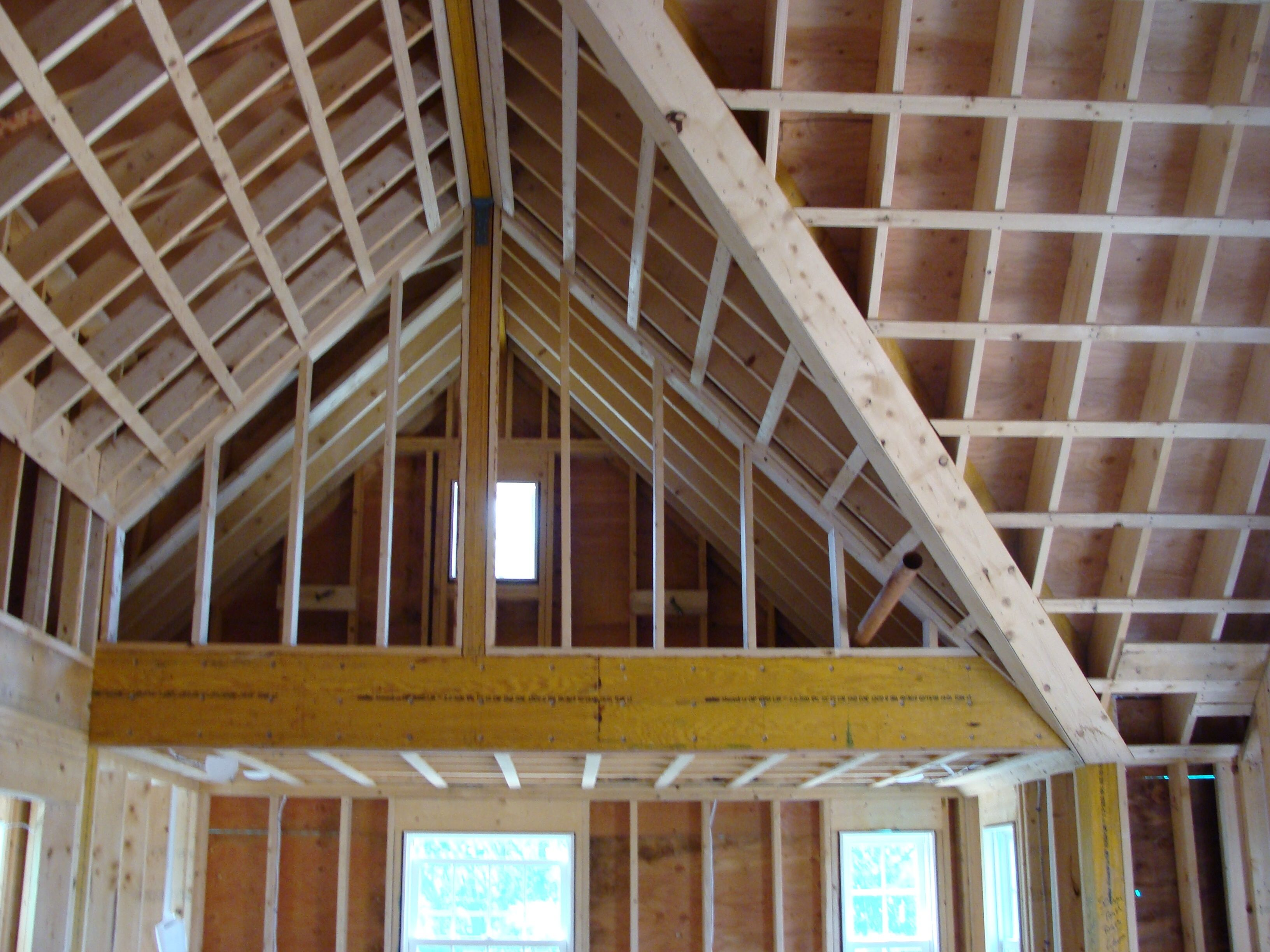 How To Cathedral Ceiling Construction Google Search