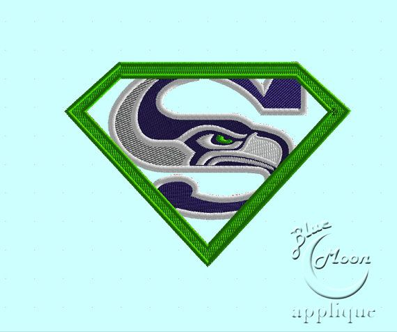 Seattle Football Seahawks Design Embroidery By Bluemoonapplique