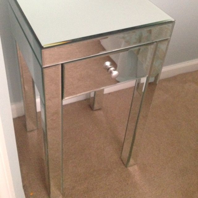 Graceful Mirrored Tall Nightstand Cheap With Single Drawer