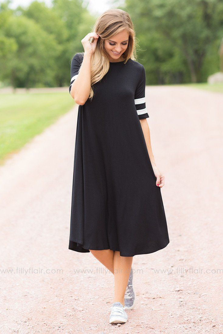 Varsity team black tee shirt dress products pinterest products