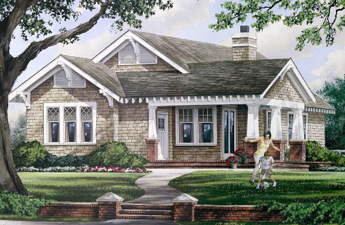 Plan 32400wp Delightful Open Floor Plan Craftsman House Plans Craftsman Style House Plans House Plans