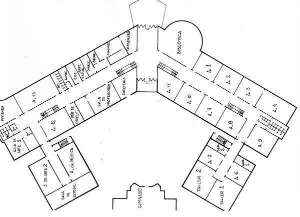 Planos de escuelas buscar con google planos for Mapa facultad de arquitectura