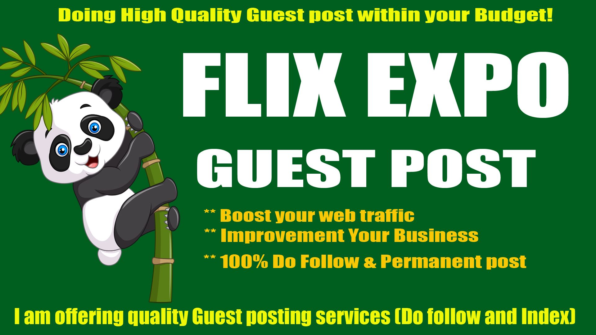 Guest post on Flix Expo with Quality Content Marketing for
