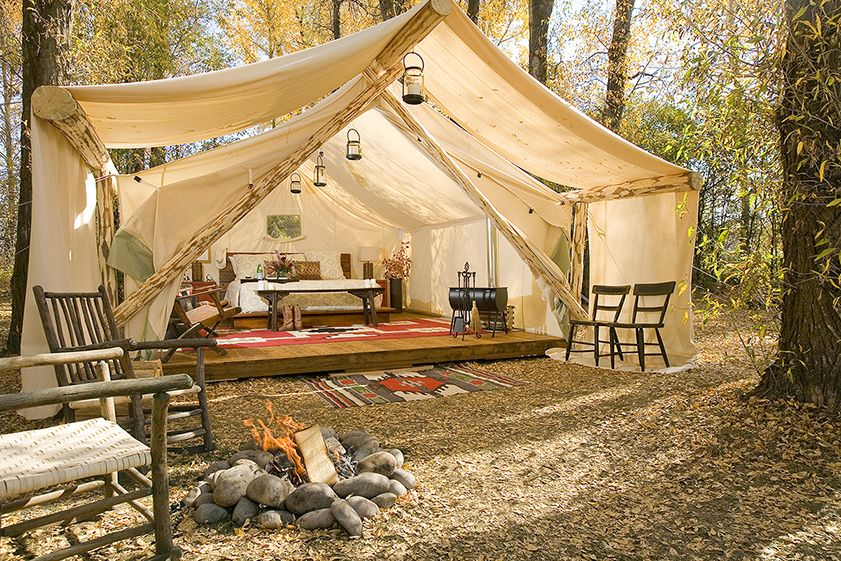 Glam camping Backyard fort, Outdoor living, Luxury tents