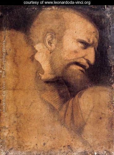 Head Of St Peter Leonardo Da Vinci Www Leonardoda Vinci Org Leonardo Da Vinci Rostros De Arte Leonardo Da Vinci Renacimiento