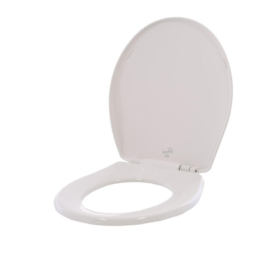 Bemis Just Lift Round Closed Front Toilet Seat In White 584slowj 000 Modern Toilet Seats Modern Toilet Toilet