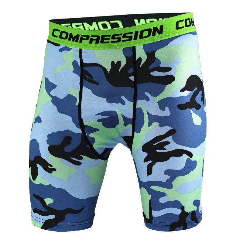 95c9d54307e Men s Compression Shorts 2017 Summer new Camouflage Bermuda Shorts Fitness  Men Cossfit Bodybuilding Tights Camo Shorts
