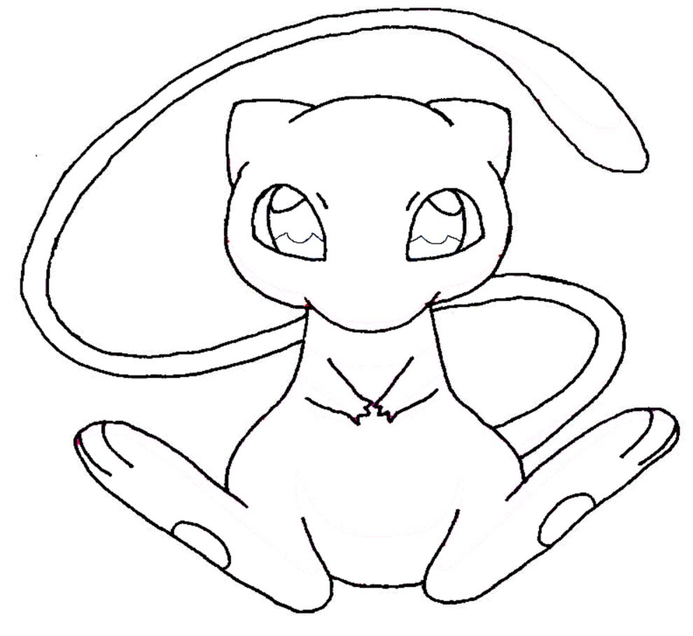 pokemon mew coloring pages - photo#23