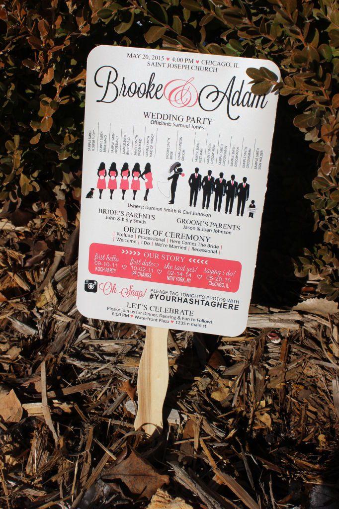 Fan Wedding Programs DIY Ideas 19 Crafts