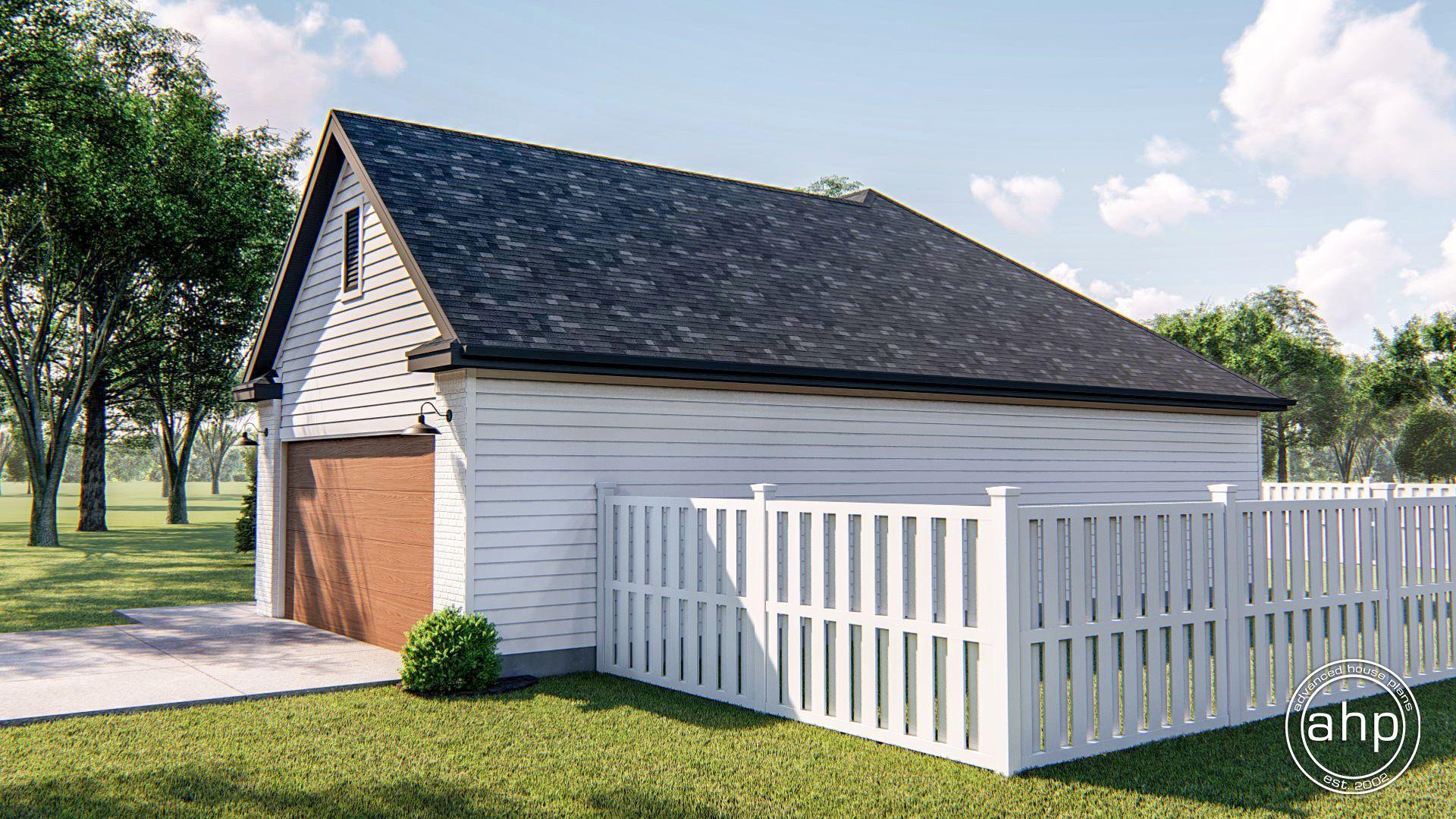 1 Story Modern Farmhouse House Plan Sinclair Modern