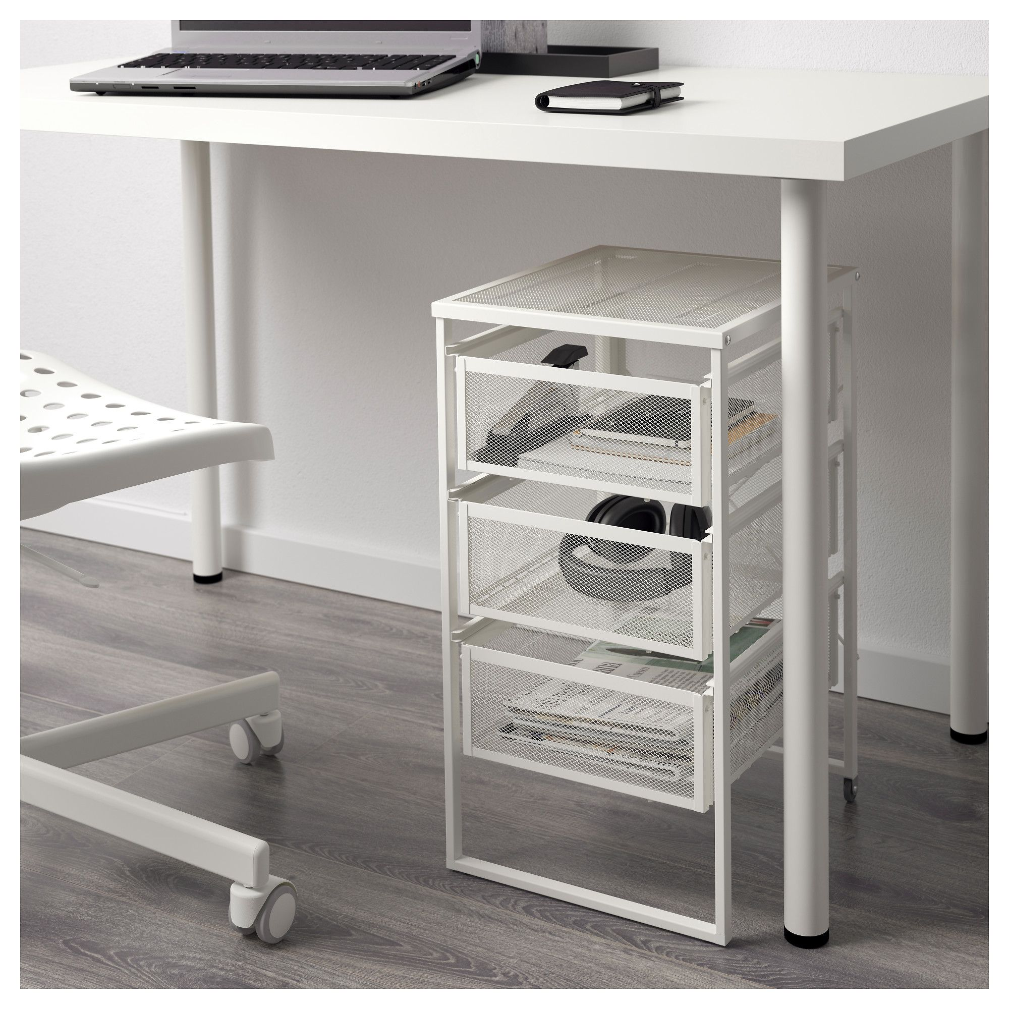 LENNART white, Drawer unit - IKEA  Drawer unit, Under desk