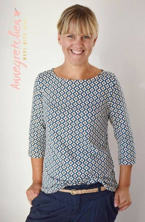 Schnittmuster / Ebook lillesol women No.22 Jerseykleid mit Uboot-Ausschnitt / Nähen Kleid Pullover / sewing pattern Jersey dress with Submarine - Neck #shirtschnittmuster