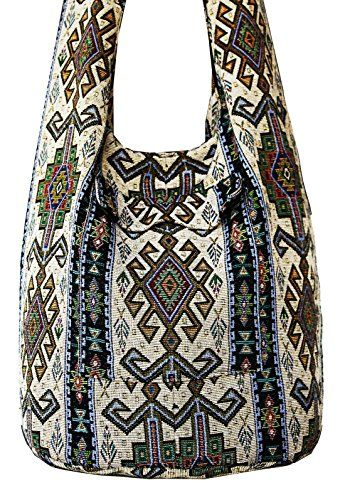 e92d50d3d43f Thai Tribal Hmong Boho Striped Ethnic Cotton Boho Sling Crossbody ...