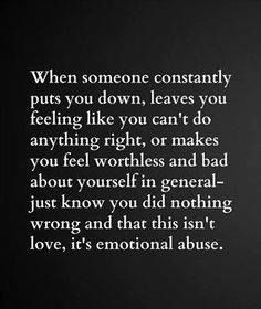What is emotional abuse?
