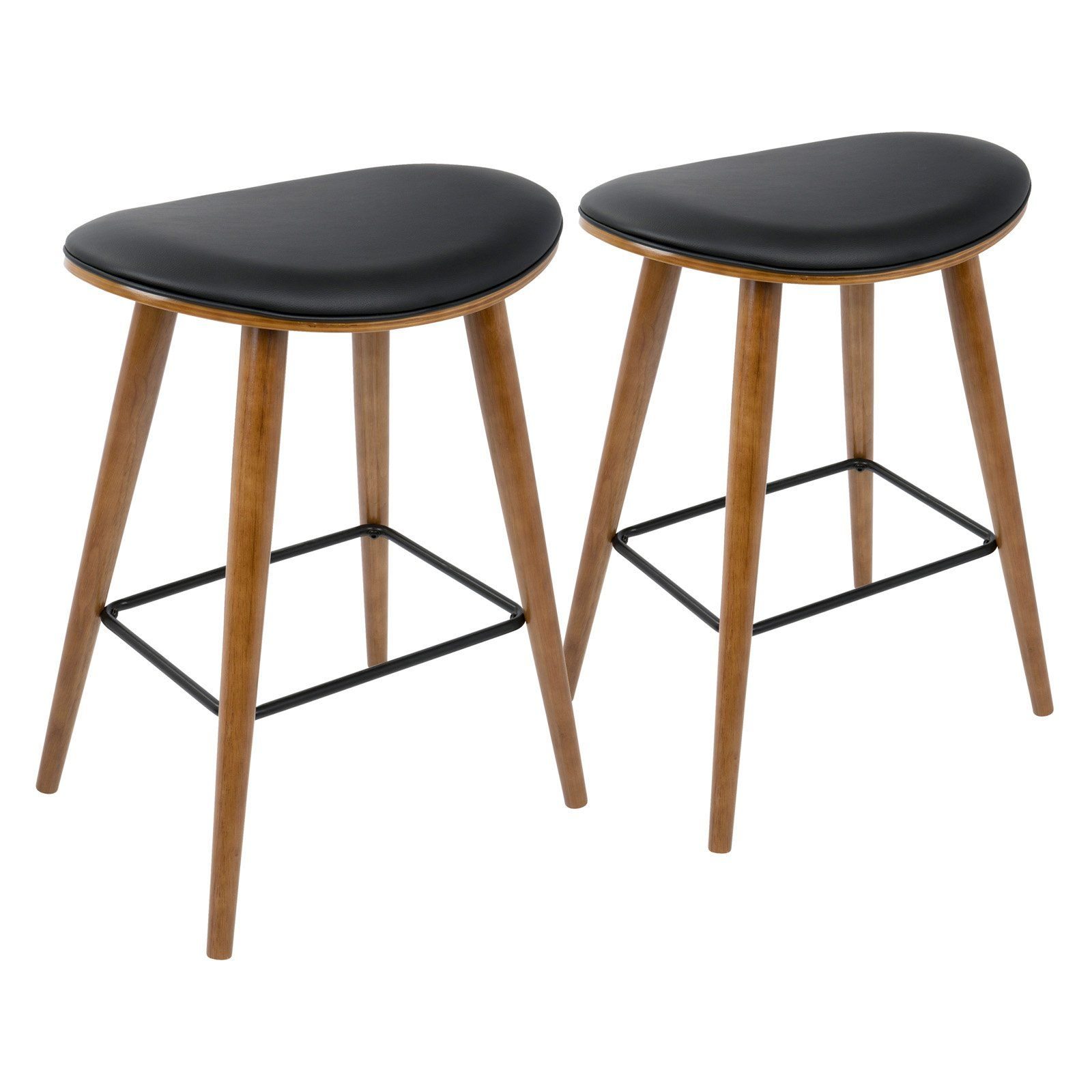 Lumisource Saddle 25 75 In Mid Century Modern Counter Stool Set