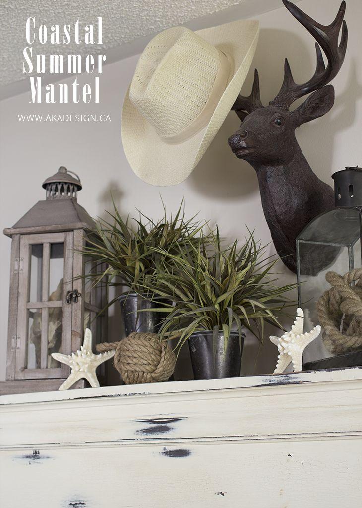 Faux Deer Head Mantle
