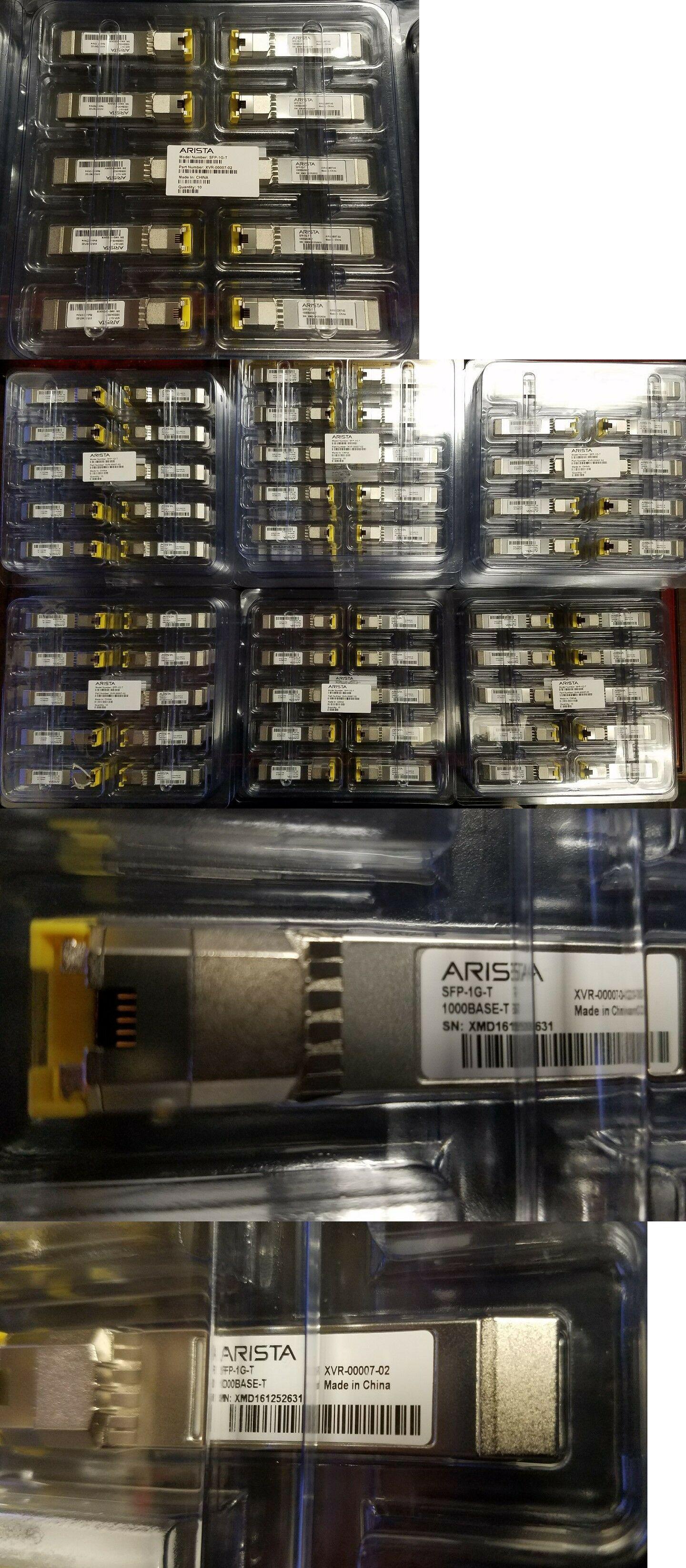 Brand New Lot of 10 Arista SFP-1G-T XVR-00007-02 Modules