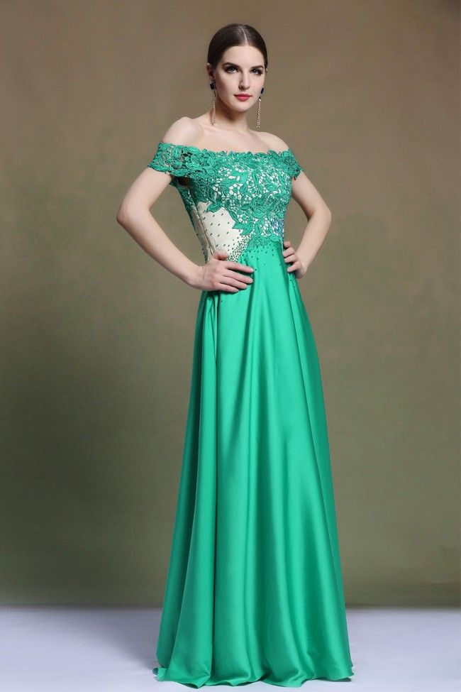 Lace Formal Evening Gown in Green Color   Fashion   Pinterest ...