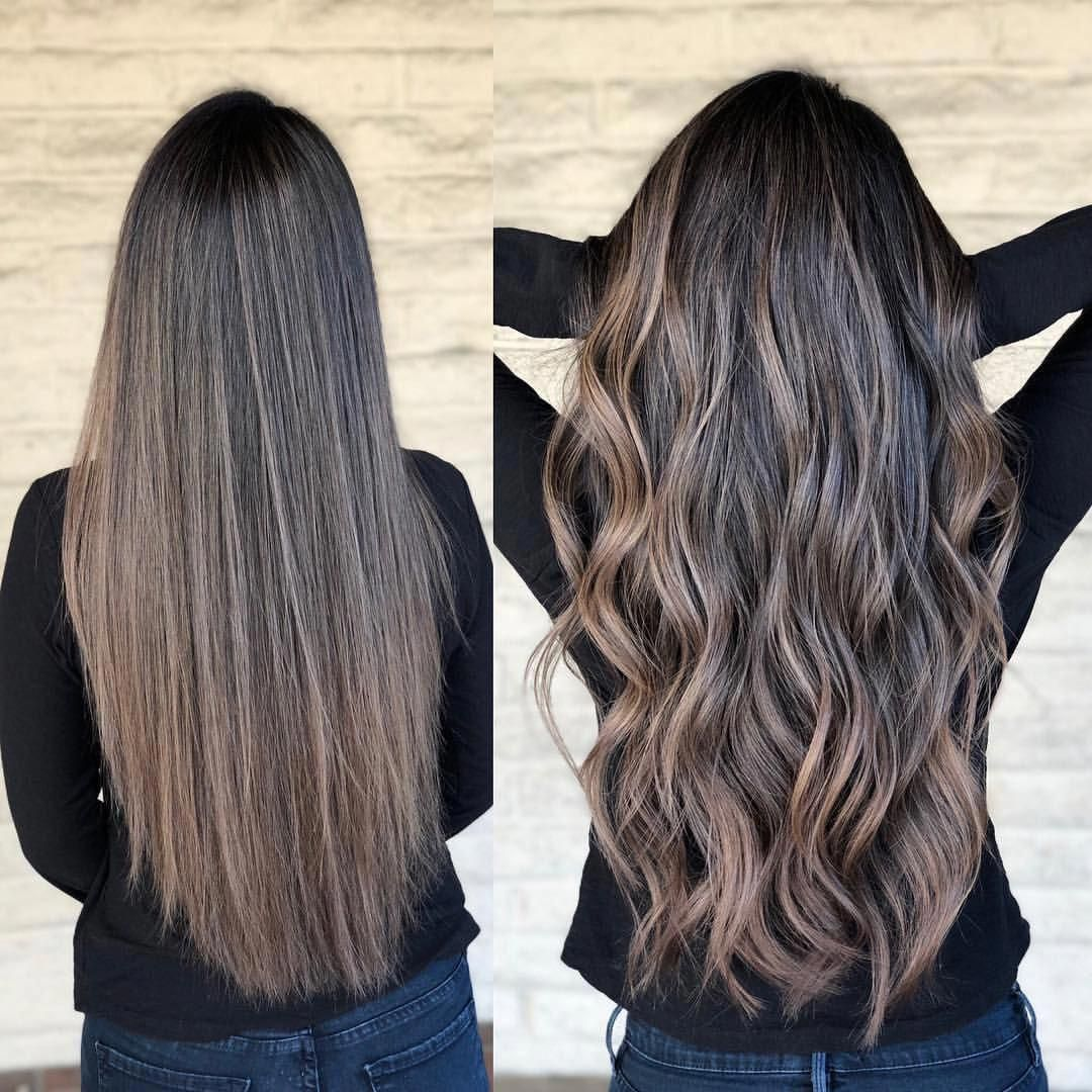 Ash Vibes Color By Andrewlovescolor Let S Customize Your Ash Brunette Tone Use Biolage Purple Sh Brunette Hair Color Brown Ombre Hair Brown Blonde Hair