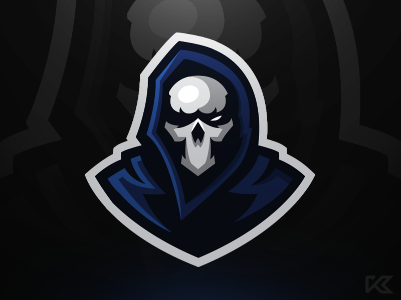 Grim Mascot Logo | Art logo, Skull logo, Logo design