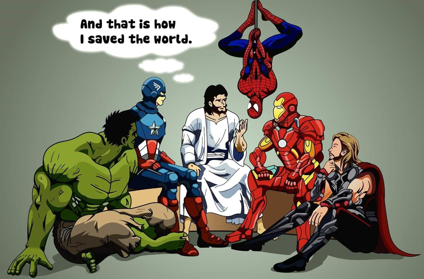 Jesus is my Super Hero!