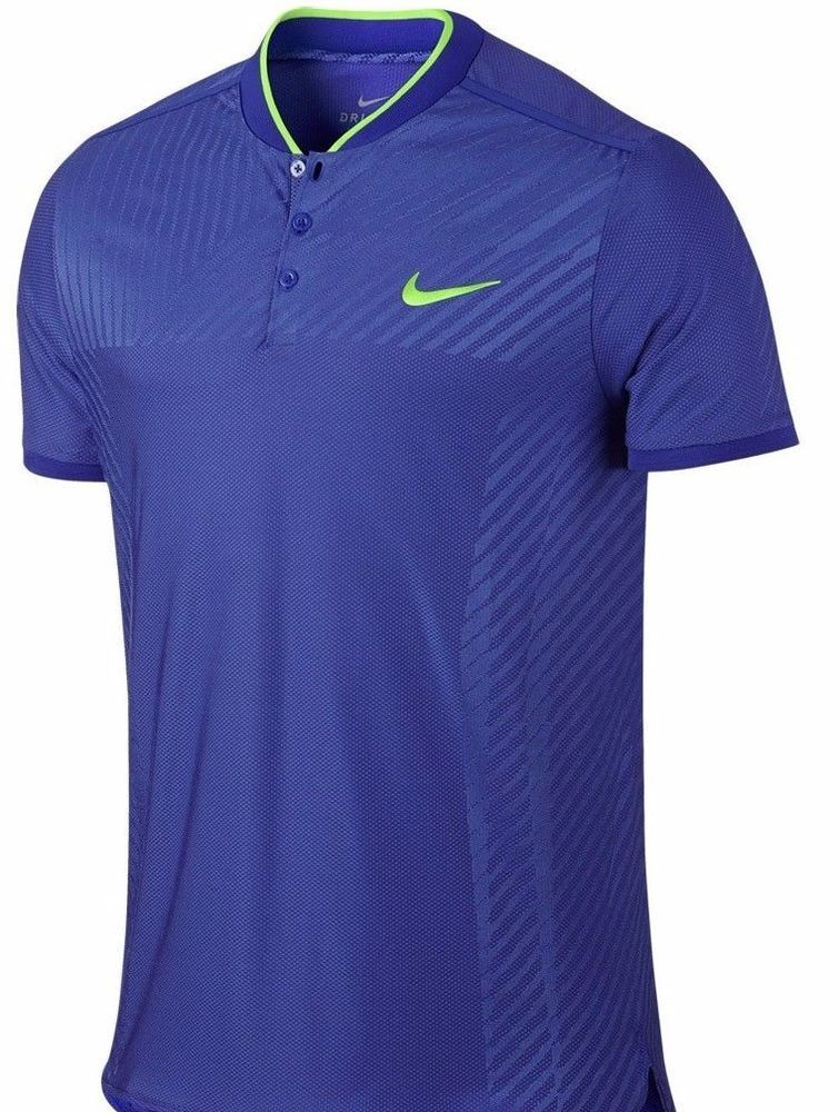 b6ea27063 Nike Nadal COURT ZONAL COOLING ADVANTAGE MEN'S L TENNIS POLO BLUE 830959  452 #Nike #TENNISPOLO