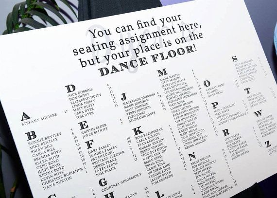 Modern wedding seating chart board poster diy you can find your assignment here but place is on the dance floor brandingchick also rh pinterest