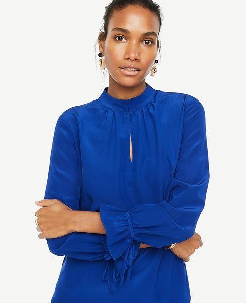 1835e0421f1fe Ann Taylor - Ann Taylor Ann Taylor Silk Tie Sleeve Blouse - AdoreWe.com