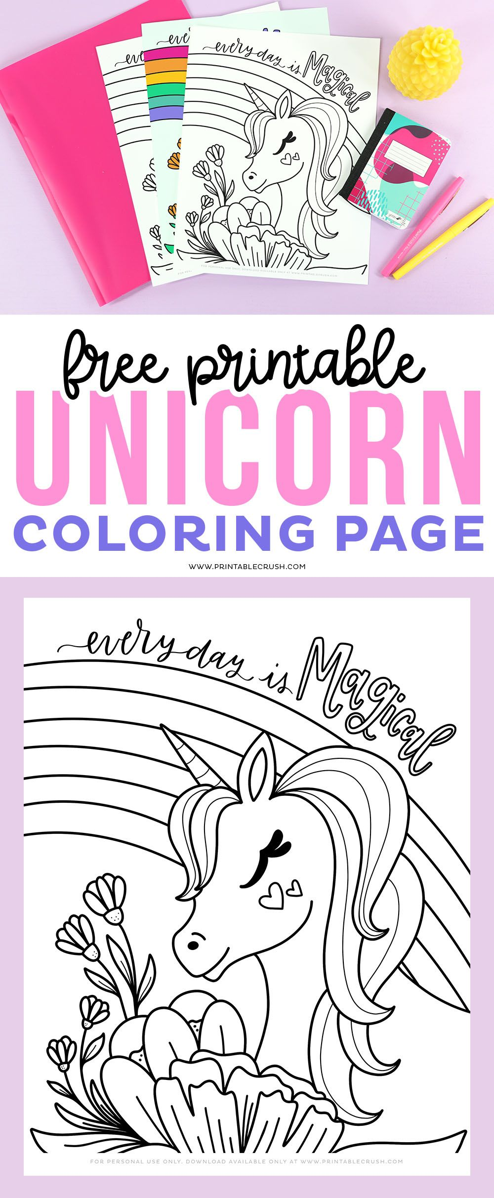 Free Printable Unicorn Coloring Page Unicorn Coloring Pages Unicorn Printables Free Printable Coloring