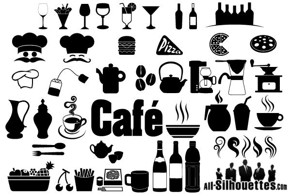 Cafe Restaurant Icons Symbols Free Vector Restaurant Icon Cafe Icon Vector Free