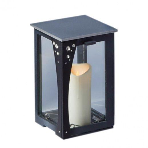 Hochwertige Grablampe aus Edelstahl