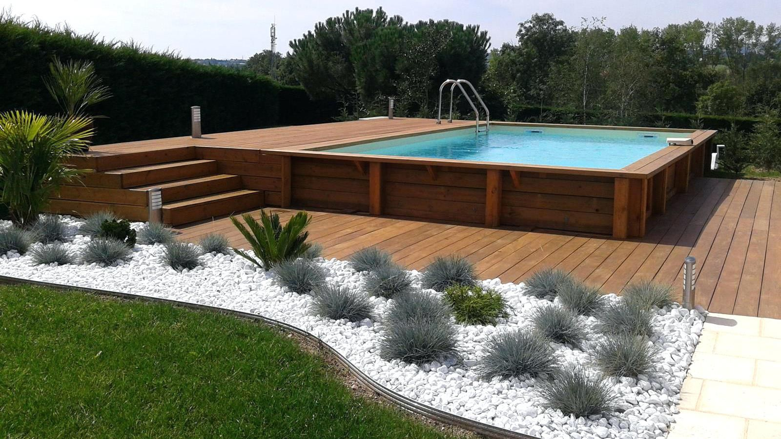 Terrasse Bois Piscine Hors Sol Et Enterrace Exemple Chantier