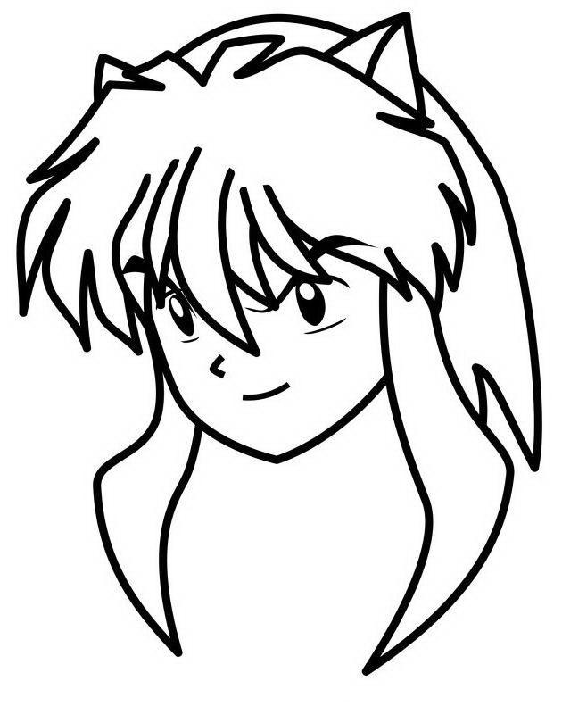 Inuyasha 1 Dibujos Faciles Para Dibujar Para Ninos Colorear Inuyasha Dibujos Colorear Para Ninos