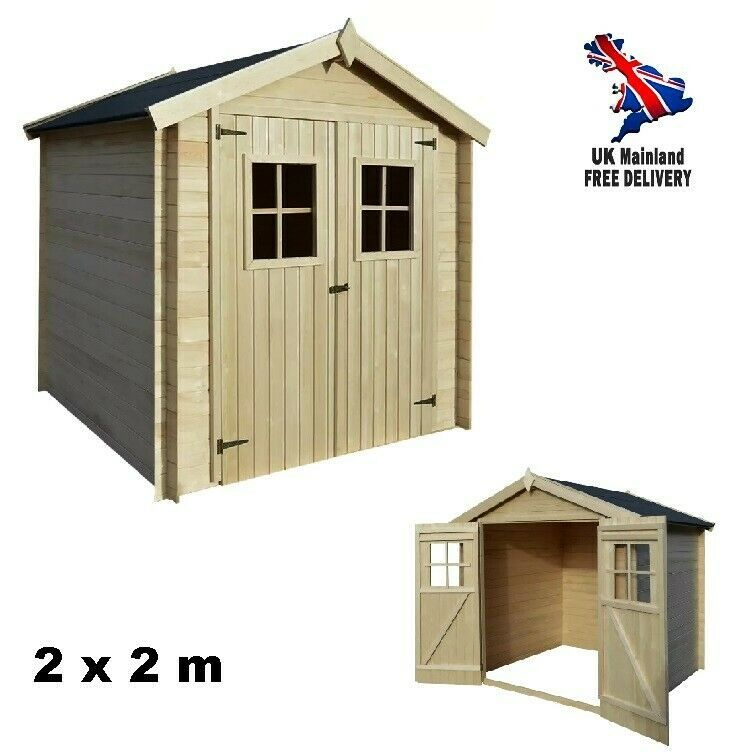 Outdoor Garden Shed Wooden House Tool Storage Large Log Cabin Patio Lawn Shelter