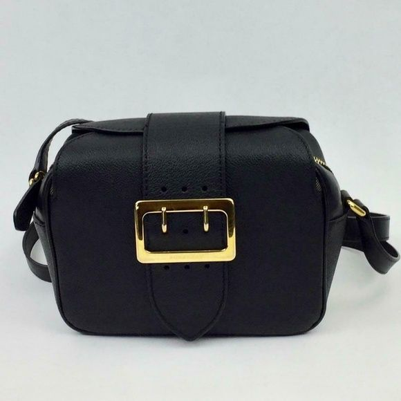 BURBERRY Small Buckle Leather camera Crossbody Bag (With
