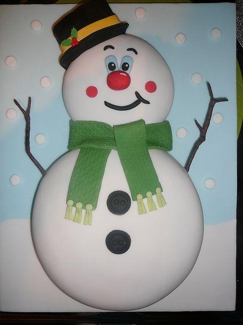 Cute snowman cake motivtorten winter torte kuchen und geburtstag torte - Kawaii kochen ...
