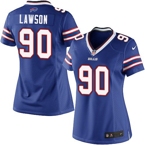 Wholesale Women's Nike Buffalo Bills #90 Shaq Lawson Elite Royal Blue Team