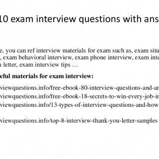 situational interview answers