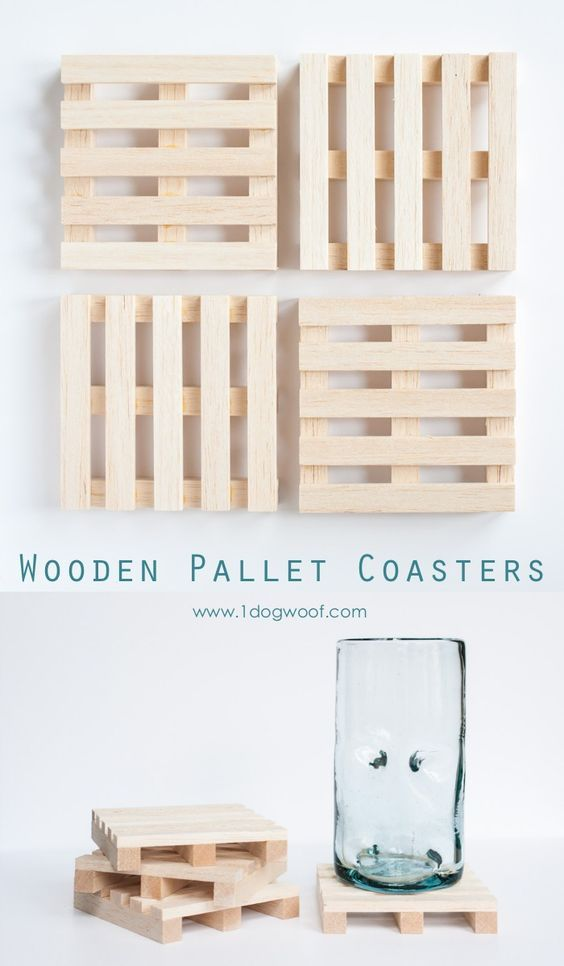 Wooden pallet coasters pallet coasters wooden pallets and pallets fathers day gift idea do it yourself projects diy wooden pallet drink coasters tutorial via one dog woof solutioingenieria Choice Image