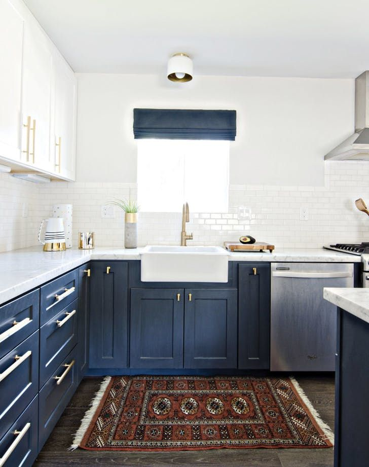 10 Trendy Navy Blue Cabinets You Ll Fall In Love With Kitchen