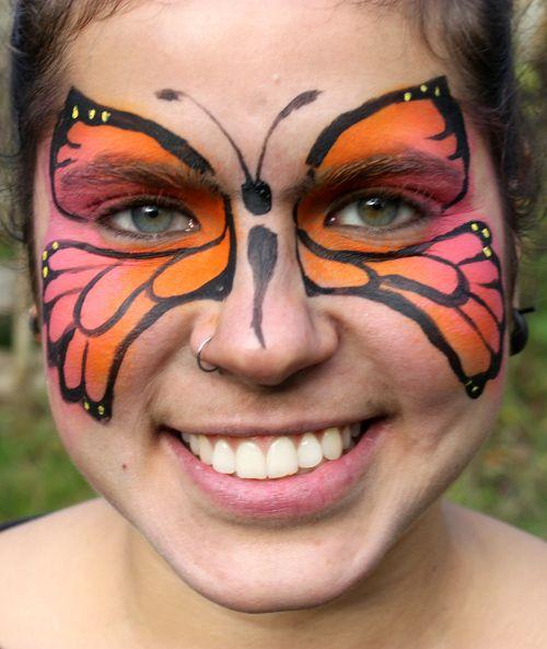 maquillage papillon sur visage facile. Black Bedroom Furniture Sets. Home Design Ideas